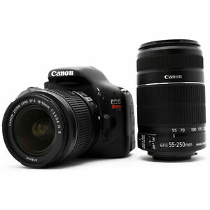 Canon-EOS-550D-Rebel-T2i-18-0-MP-Digitalkamera-Kit-EF-S-IS-18-55mm-55-250mm