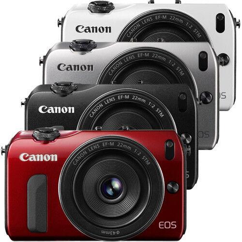 Canon EOS-M Digital Camera w/ EF-M 22mm f/2 Lens (Black, Red, Silver, White)
