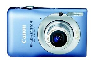 Canon PowerShot Digital ELPH SD1300 IS / IXUS 105 12.1 MP Digital Camera - Blue in Cameras & Photo, Digital Cameras | eBay