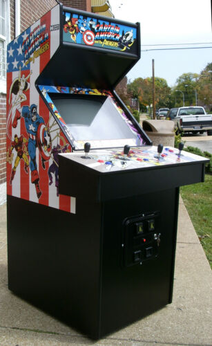 Captain America And The Avengers Arcade- Sharp-Totally refurbished- New Monitor in Collectibles, Arcade, Jukeboxes & Pinball, Arcade Gaming | eBay