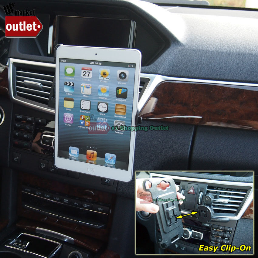 Car/Truck Dash Air Vent Clip-On Tablet Mount Cradle Holder For Apple iPad Mini