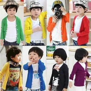 Girl Clothing on Cardigan Cotton Boy Girl Baby Clothes Long Sleeve   Ebay