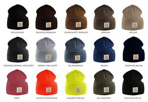 Carhartt-ACRYLIC-HAT-Muetzen-Muetze-schwarz-braun-grau-blau-rot-gelb-gruen