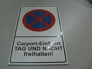 carport einfahrt freihalten schild 180 x 290 x 4 mm parkplatzschilder ebay. Black Bedroom Furniture Sets. Home Design Ideas