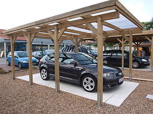 carport flachdach 4 00 x 6 00 m kiefer kdi fr hjahrsaktion ebay. Black Bedroom Furniture Sets. Home Design Ideas