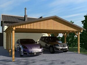 carport satteldach monza ii 600x600cm bausatz ebay. Black Bedroom Furniture Sets. Home Design Ideas