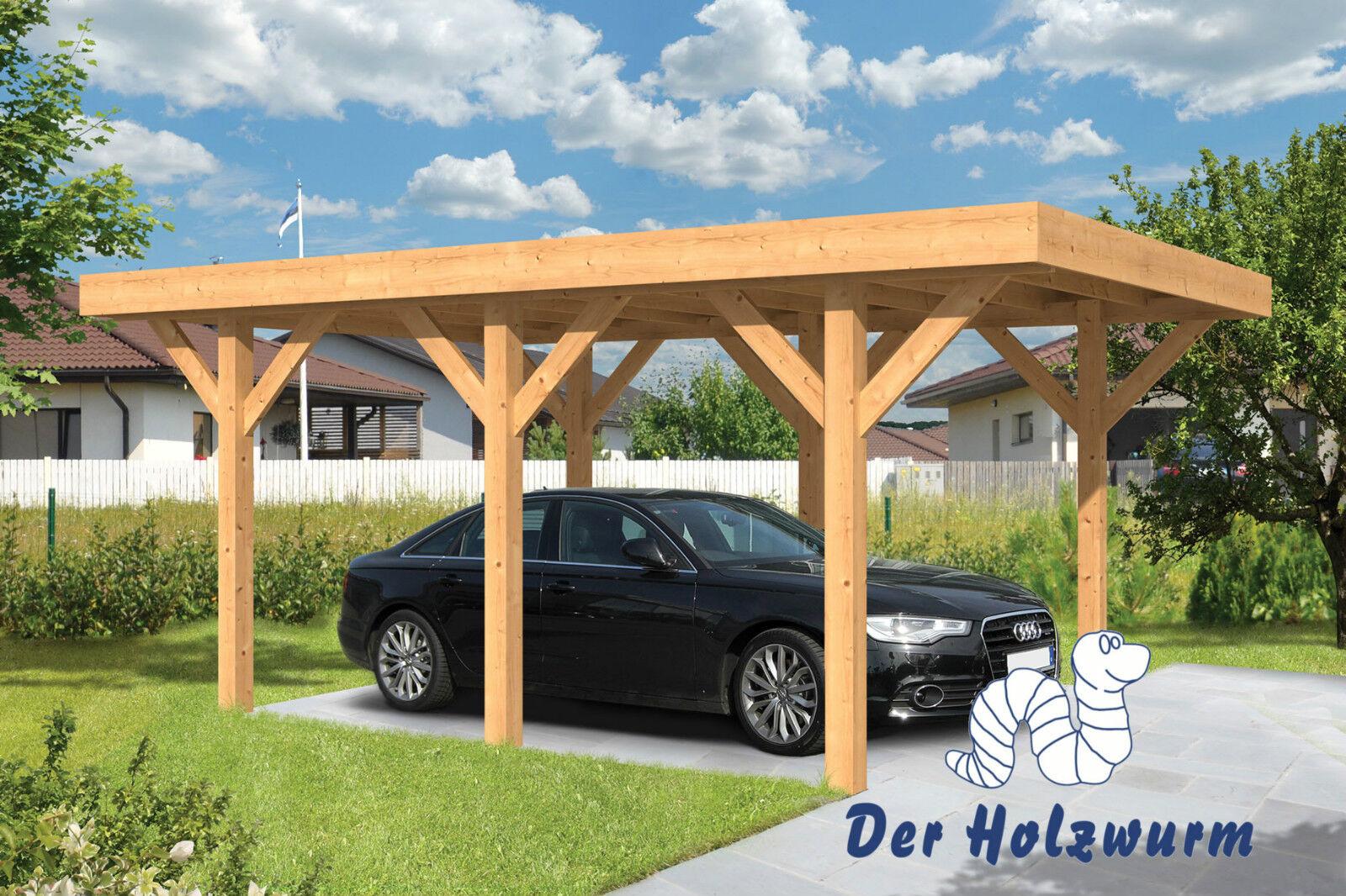 Carport sloten 350x500 cm garage holz unterstand 15 x 15cm for Carport pfosten