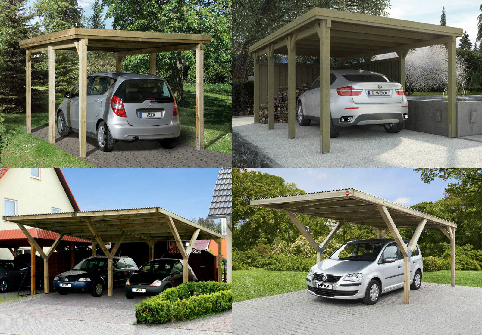 carport weka garage holz unterstand 12x12 cm doppelcarport einzelcarport ebay. Black Bedroom Furniture Sets. Home Design Ideas