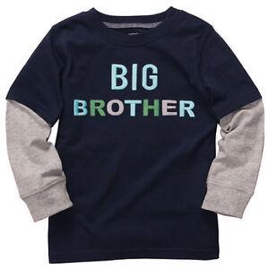 Carter 039 s boys blue big brother long sleeve shirt kids for Big brother shirts for toddlers carters