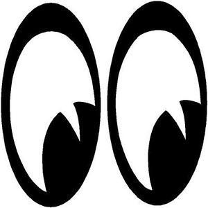Cartoon-EYES-NO-FEAR-Eyes-Flame-Skull-BAD-BOY-DECAL-STICKER-Vinyl-ANY ...