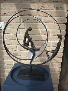casablanca design skulptur patience bronce dekoration. Black Bedroom Furniture Sets. Home Design Ideas