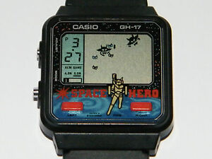 casio game watch space hero retro japan armbanduhr spiel. Black Bedroom Furniture Sets. Home Design Ideas
