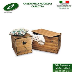 Cassapanca in legno cassapanche in legno massello ebay for Cassapanche in legno