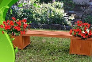 Cassapanca panca con 2 fioriere in legno per esterno - Cassapanca in legno da esterno ...