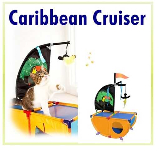 Cat Kitten Pet Play House Toy Accessory Supplies CARIBBEAN CRUISER Playground in Pet Supplies, Cat Supplies, Furniture & Scratchers | eBay