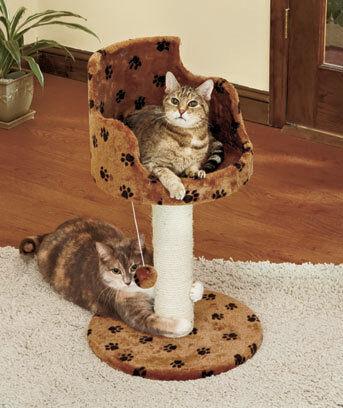 Cat Loft Bed with Scratching Post in Pet Supplies, Cat Supplies, Furniture & Scratchers | eBay