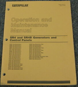 cat sr4 sr4b generator control panel operation maintenance manual mar