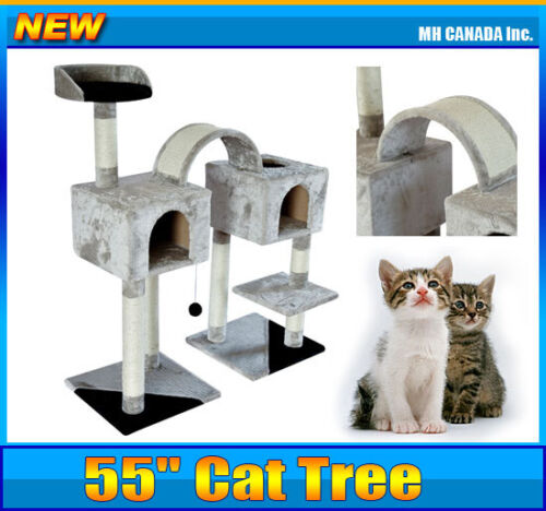 "Cat Tree Scratching Scratcher Condo 45"" Pet House Post Furniture New in Pet Supplies, Cat Supplies, Furniture & Scratchers 