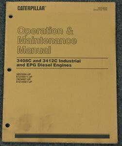 Cat 3408C 3412C Indust & EPG Diesel Engine Operation & Maint Manual