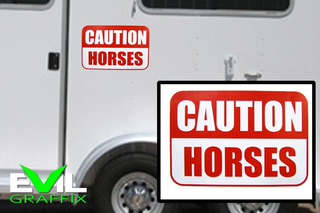 Caution Horse Graphics Horse Caution Trailer Stickers Horse Caution Graphic