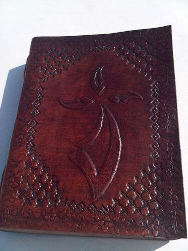 Celtic Cross embossed handmade leather bound blank book journal Christmas gift in Books, Accessories, Blank Diaries & Journals | eBay