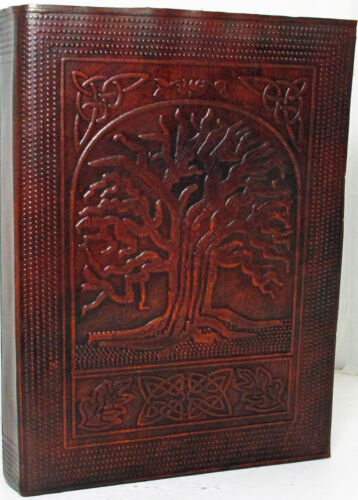 Celtic Tree of Life Handmade Leather 8x6 Journal NEW in Books, Accessories, Blank Diaries & Journals | eBay