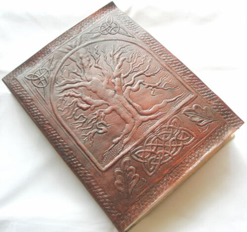 Celtic Tree of Life Handmade Leather bound Journal Blank Book Diary Sketchbook in Books, Accessories, Blank Diaries & Journals | eBay