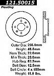 Centric Parts 121.50015 Front Disc Brake Rotor