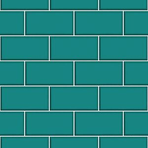 Ceramica-Brick-Tile-Teal-Kitchen-and-Bathroom-Wallpaper-FD40139