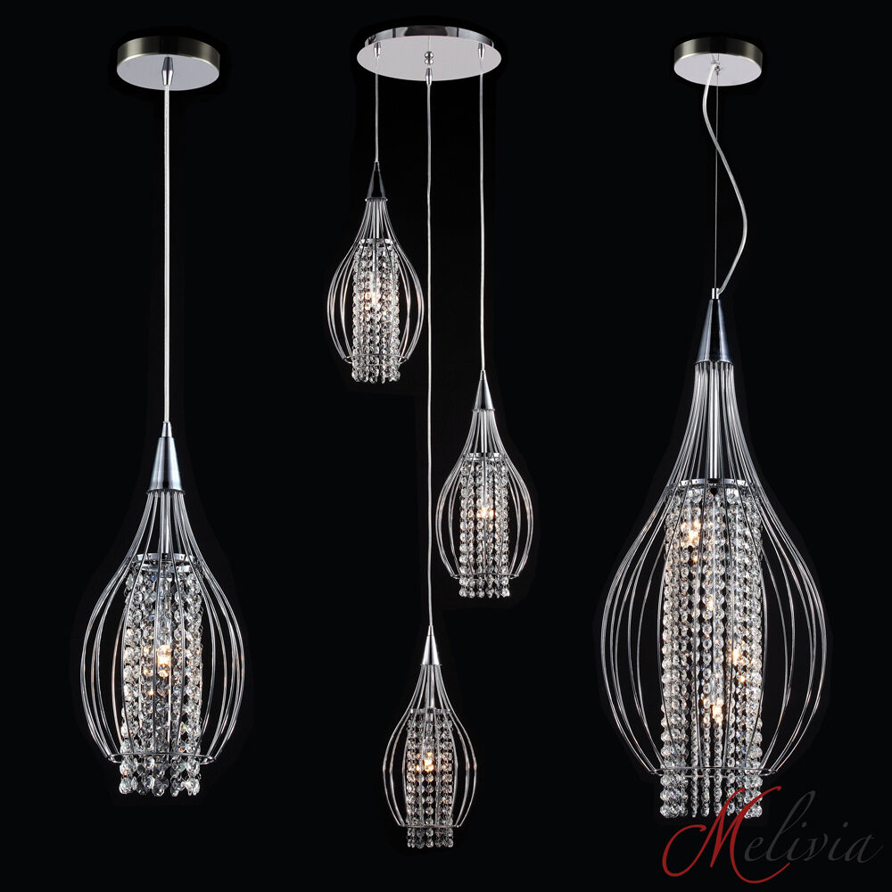 Hanging Light White Chrome Ceiling Lamp Pendant Lights