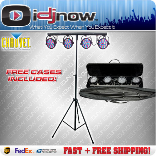 Chauvet Mini 4BAR LED RGB Par Can Stage Wash Tripod 4 BAR Lighting System & Bag in Musical Instruments & Gear, Stage Lighting & Effects, Stage Lighting: Single Units | eBay