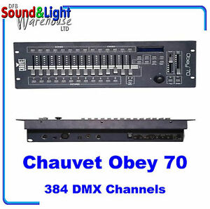 chauvet obey 70 384 channel dmx lighting controller for dj 39 s disco band ebay. Black Bedroom Furniture Sets. Home Design Ideas