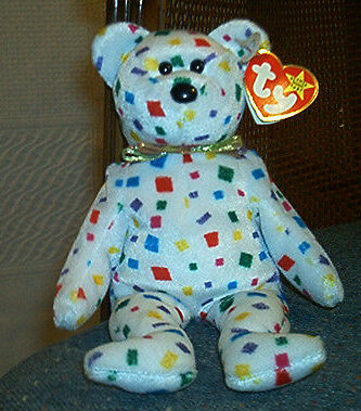 """Check Out This CuteTY BEANIE BABY BEAR """"TY 2K"""" lots of color in Toys & Hobbies, Beanbag Plush, Ty 