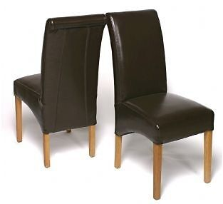 Faux Leather Dining Room Chairs
