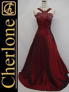 Cherlone-Plus-Size-Satin-Burgundy-Long-Ball-Gown-Wedding-Evening-Dress-UK-22-24
