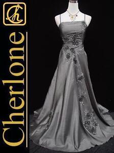 Cherlone-Plus-Size-Satin-Grey-Lace-Ball-Gown-Formal-Wedding-Evening-Dress-22-24