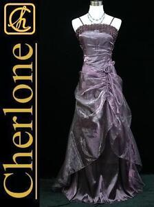 Cherlone-Plus-Size-Satin-Purple-Lace-Long-Ball-Gown-Wedding-Evening-Dress-22-24
