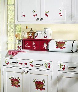 Cherry Decor Removable Wall Decals Country Decor Cherry Kitchen Stickers in Home & Garden, Home Decor, Decals, Stickers & Vinyl Art | eBay