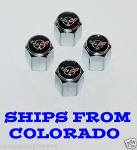 Corvette Stingray Ebay Motors on Chevy Corvette C2 C3 C4 Stingray Wheel Tire Valve Stem Caps B   Ebay