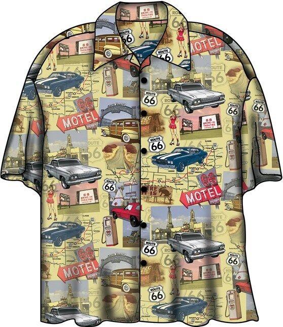 Chevy Route 66 Corvette Camaro Nova Camp Hawaiian Shirt