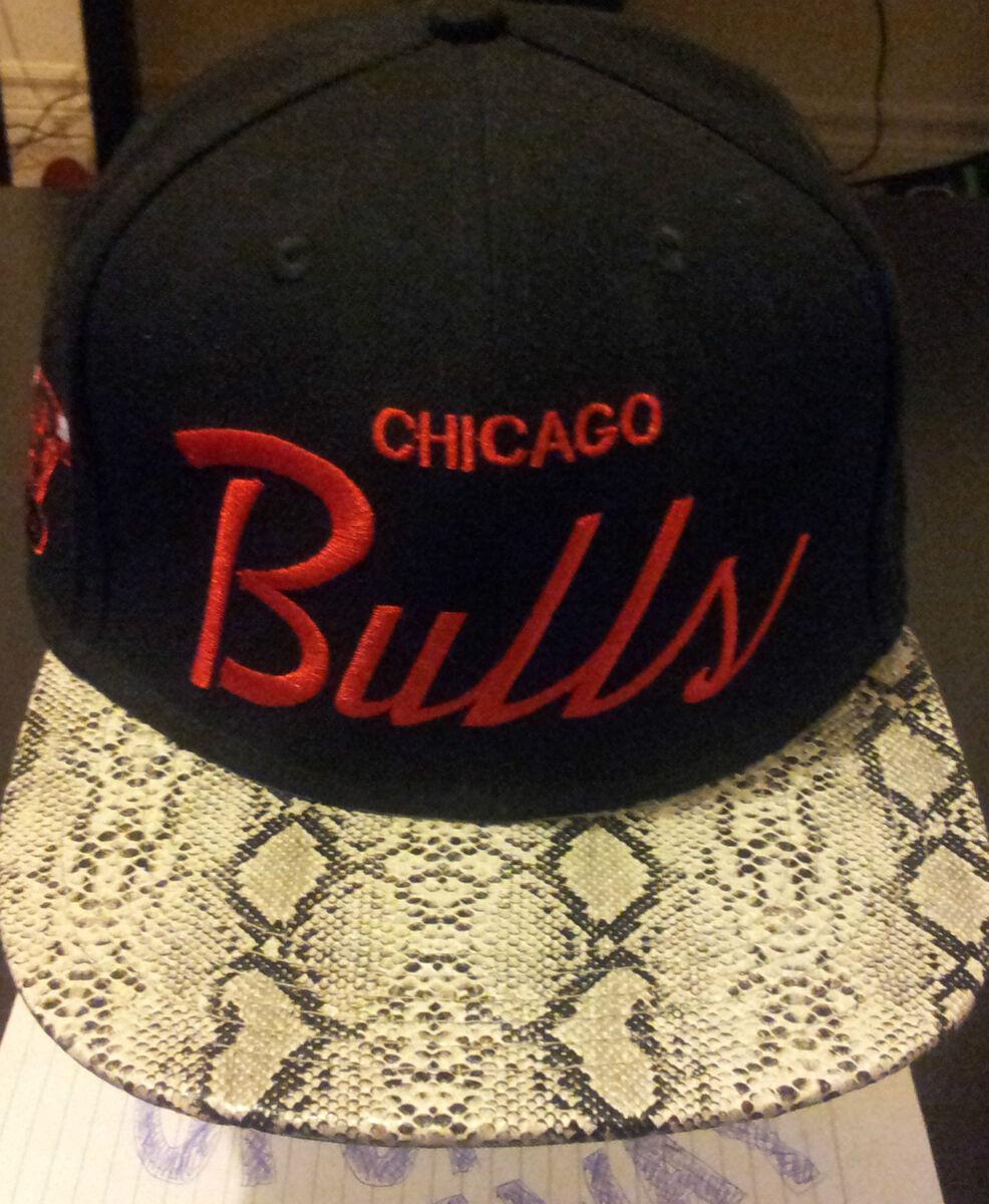 8e85239998c Custom Snakeskin Strapback Snapback Mitchell Ness RSVP jayz Hat on ...