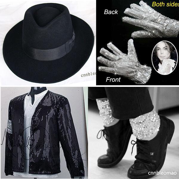 Child MICHAEL JACKSON Billie Jean Jacket+Hat+Glove+Socks MJ Kids