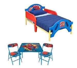 children kids boy amazing spiderman table chair bed