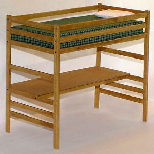 ... Beds & Frames: Children's Twin Loft Bed With Desk Woodworking Plans