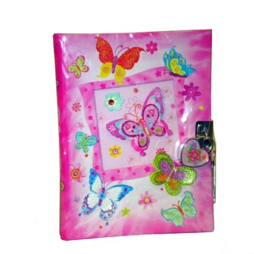 Children's lockable Diary, Butterfly Design, Butterfly Diary with Lock in Books, Accessories, Blank Diaries & Journals | eBay