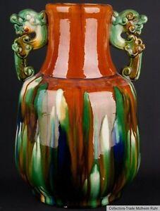 China-20-Jh-A-Rare-Chinese-Sancai-Glazed-Baluster-Vase-Vaso-Cinese-Chinois