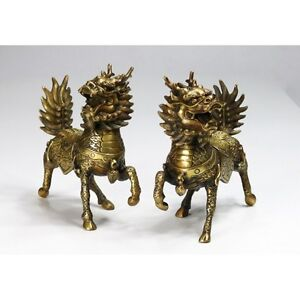 chinesische bronze figuren feng shui gl ckstier qi lin ebay. Black Bedroom Furniture Sets. Home Design Ideas