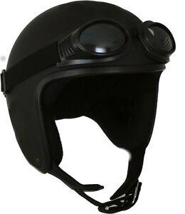 chopper jethelm harley helm mit brille gr e m neu ovp ebay. Black Bedroom Furniture Sets. Home Design Ideas