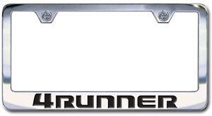Chrome Engraved Toyota 4runner License Plate Frame New