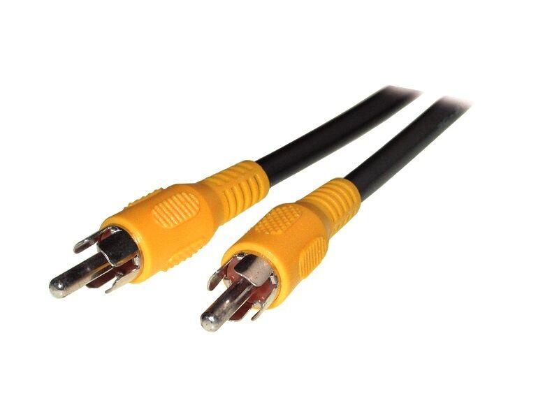 cinch video kabel gelb composite tv 10m stecker stecker ebay. Black Bedroom Furniture Sets. Home Design Ideas